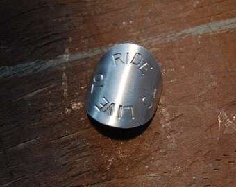 Live To Ride / Ride To Live - Bicycle Head Badge - Bike Badge