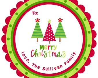 Christmas Stickers Labels - personalized