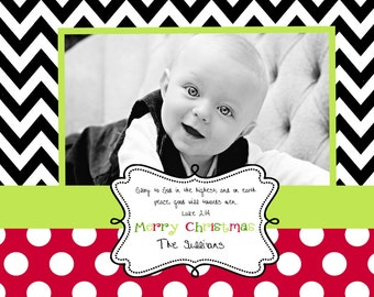 Chevron  Christmas  Cards
