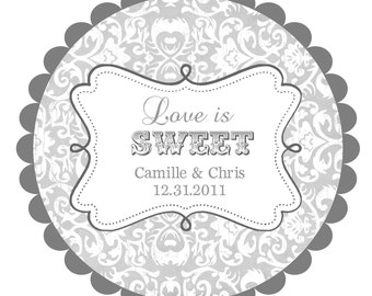 Love Is Sweet Wedding Labels Round Stickers For Favors Any Colors
