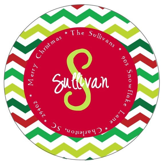 Christmas Address Labels Stickers