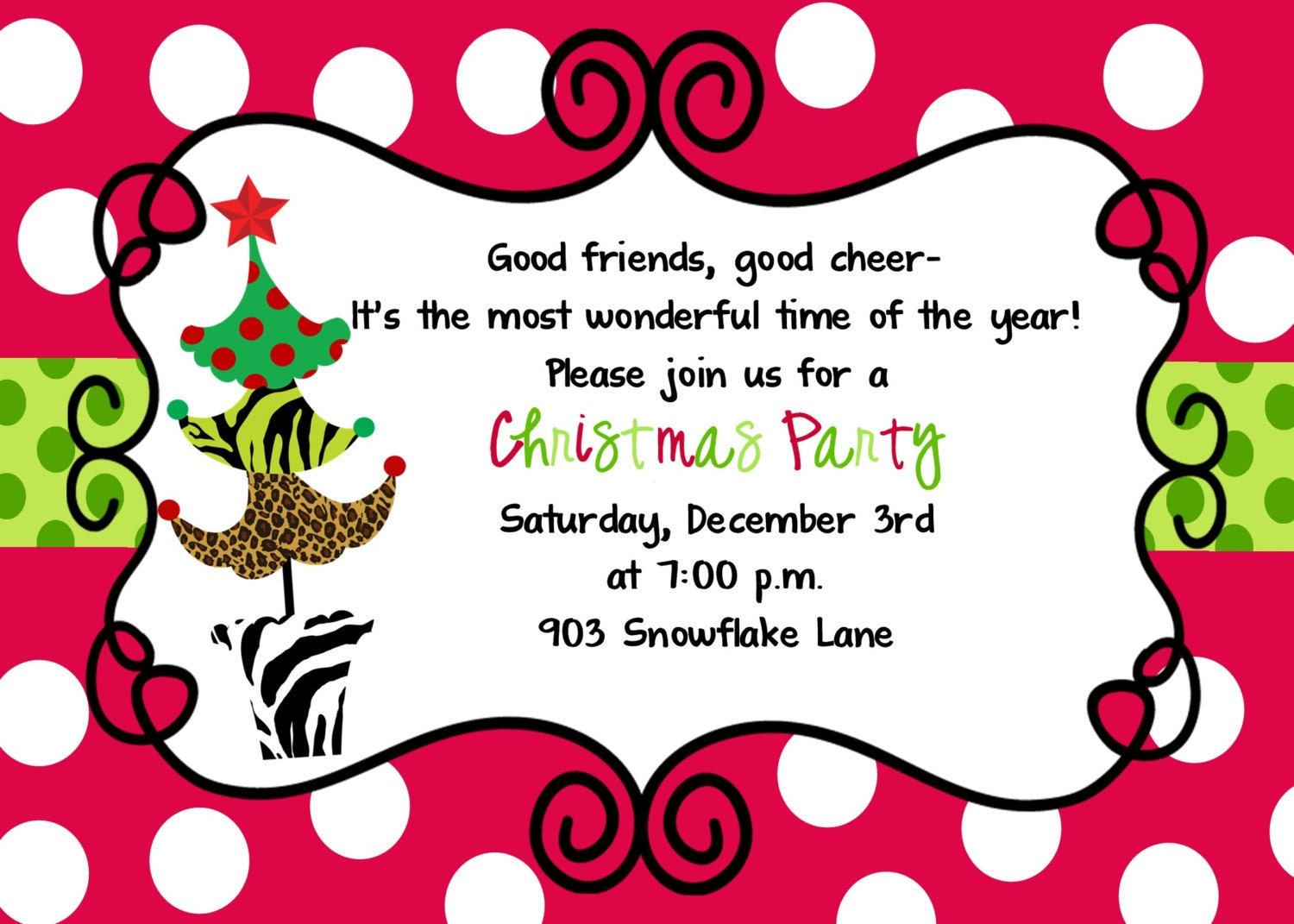 Christmas Party Invitation – Christmas Party Invites Ideas