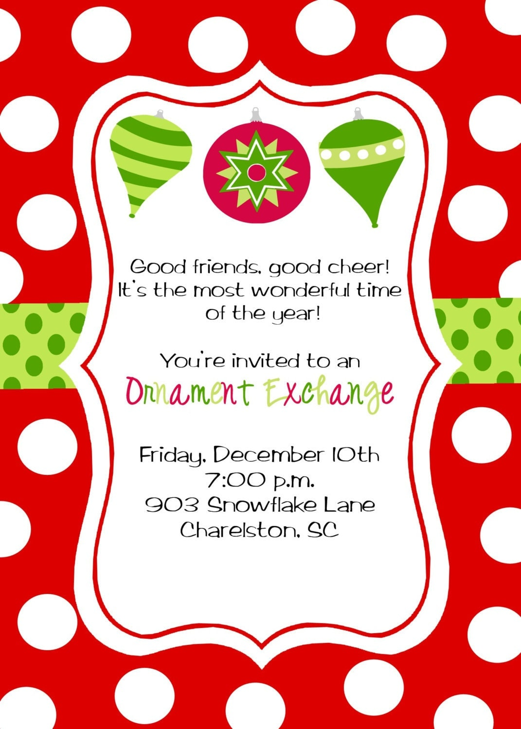 Christmas Party Invitations by stickerchic on Etsy: https://www.etsy.com/listing/86509412/christmas-party-invitations