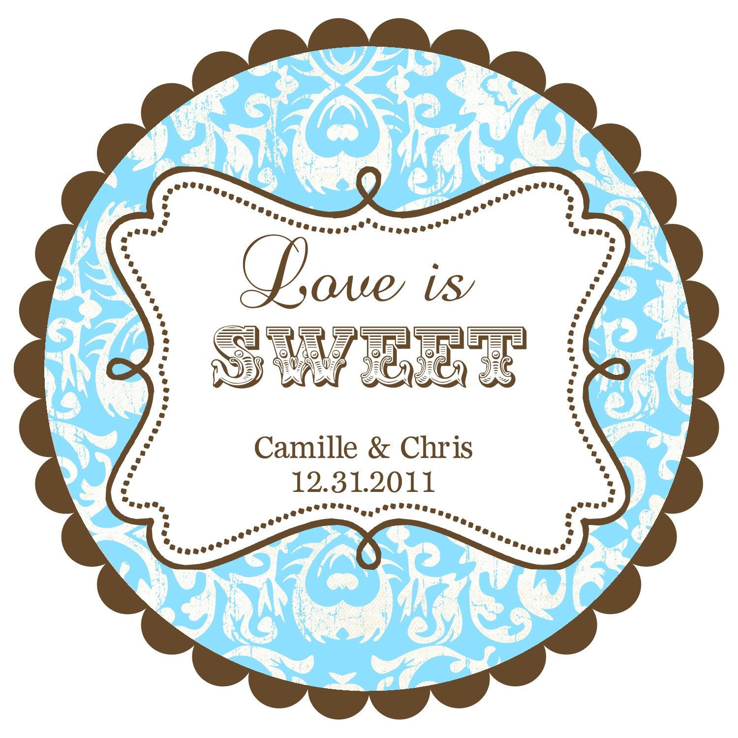 Love is Sweet Wedding Labels Round Labels Stickers for
