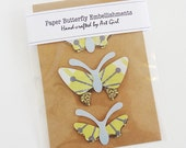 Paper Butterfly Embellishments - set of 3