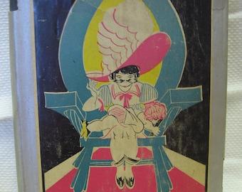 Vintage 1930s Alice In Wonderland Book Lewis Carroll Through the Looking Glass Dust Jacket