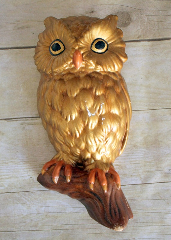 Pay if Forward PIF Ceramic Owl Wall Decoration - Beautiful Hand Crafted