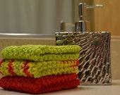Crochet dishcloths - set of three