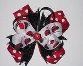 Ladybug Boutique Style Stacked Bow