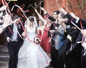 100 Satin Ribbon Wedding Wands - 84 colors to choose from