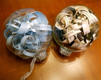 Wedding Invitation Christmas Ornament - Will still make even after the holidays - Great Wedding gifts