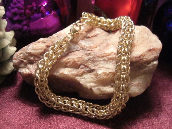 14k Gold filled Full Pursian Chain Maille Bracelet
