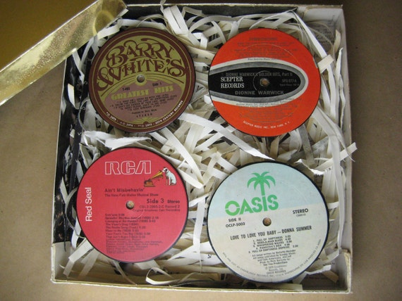 Barry White Gift Box with Vinyl Record Coaster Set
