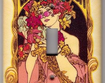 Woodstock Flower Child Music Poster Switchplate Cover - Single Jumbo size (323)