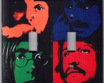 Beatles Andy Warhol Poster Switchplate Cover - Double Regular size (313)