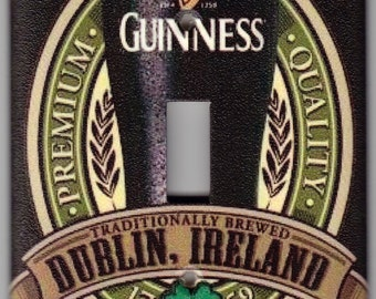 Guinness Irish Beer Brewed in Dublin, Ireland / St. Patrick's Day Switchplate Cover - Single Jumbo size (438)