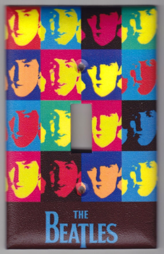 Beatles Andy Warhol Poster Switchplate Cover - Single Regular size (333)