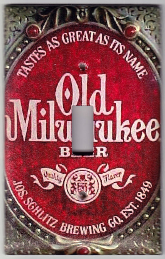 Old Milwaukee Beer / Vintage Sign Switchplate Cover - Single Regular size (419)