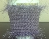 Crocheted Coffee Cozy Funky Purple Passion
