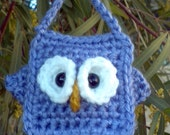 Crochet Owl Lavender Blue - Lilac - Free Shipping