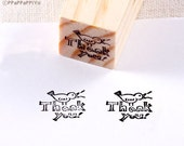Bird thank you Rubber Stamp