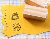 Prince & Princess Rubber Stamp