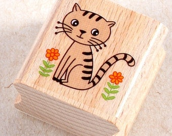 50% OFF SALE Cat Rubber Stamp