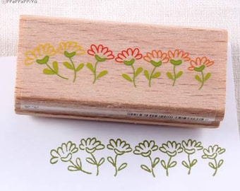 flower garden Rubber Stamp