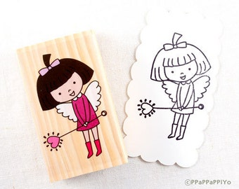 25 OFF SALE Big Stamp-Girl angel