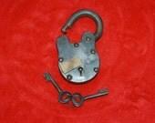 Old Pad Lock with Keys