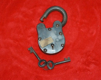 Old Pad Lock with Keys