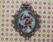 Custom Cameo Brooch  with Portrait of your pet