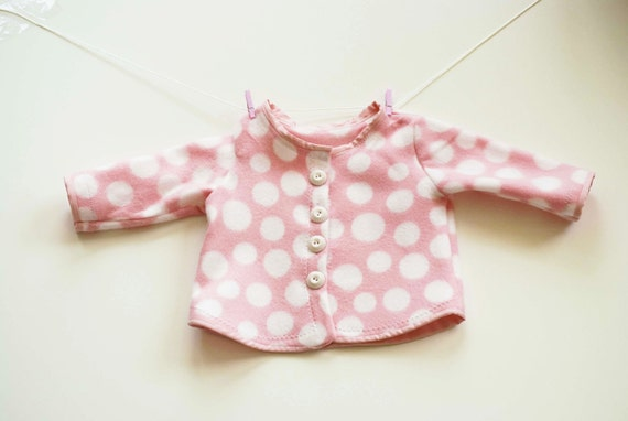Baby Girl Jacket Baby Clothes Children Clothing Children Fall Winter Clothing Baby Shower Handmade Boutique Clothing  in Size 3M-6M.