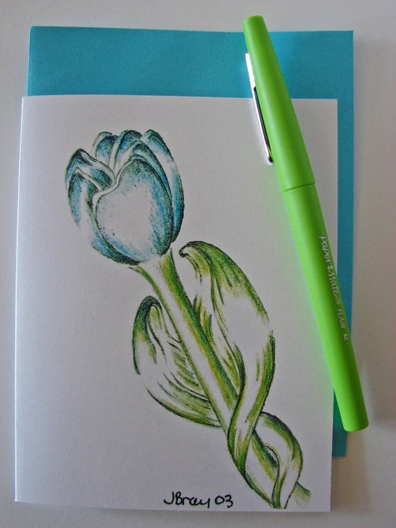 The Blue Tulip Greeting Card