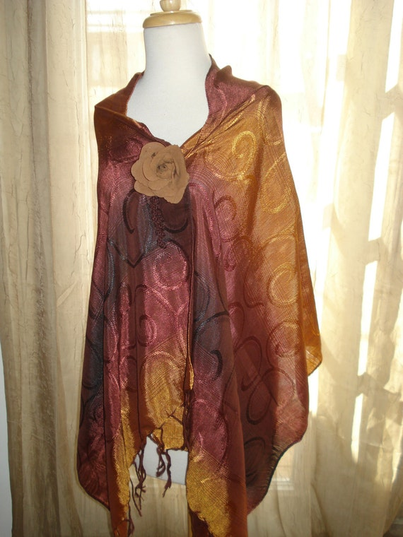 Scarf / Shaw Silk - Cotton Wrap - Around SUMMER SALE 20% off Was 15 Now 12