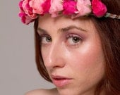Valley of the Roses Headpiece - Pink Rose Flower Crown