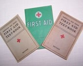 Vintage First Aid (Red Cross) Book Set of Three