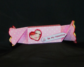 3D Valentine's Candy Wrapper Printable Pattern
