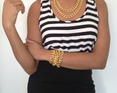 Versatile Long Chunky Gold Bracelet or Necklace