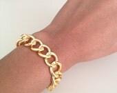 Chunky Gold Chain Link Bracelet