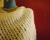 1970s Vintage Crocheted Shawl