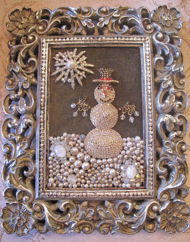 Ooak Vintage Rhinestone Costume Jewelry By Myjewelrystash