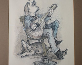 SINGING COWBOY Print by Gary Patterson