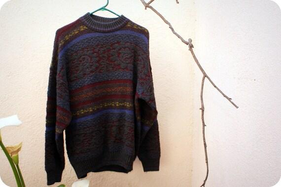 Vintage Giorgio 70's Print Sweater Size Large
