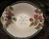 Vintage Ceramic Fruit Bowl w/Saucer