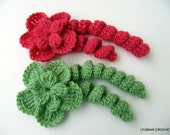CROCHET FLOWER PATTERN, Flower With Curls, Diy Flowers, Crochet Flowers, Crochet Tutorial Instant Digital Download Pdf Pattern No.19
