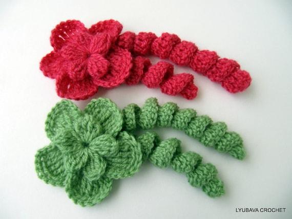 CROCHET FLOWER PATTERN, Flower With Curls, Diy Flowers, Crochet Flowers, Crochet Tutorial Instant Digital Download Pdf Pattern No.19