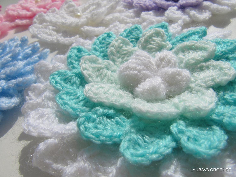 CROCHET FLOWER PATTERN 3d Flowers Crochet by LyubavaCrochet