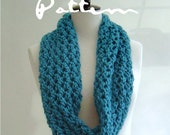 KNITTING PATTERN Chunky Cowl Infinity Scarf  Easy knit PDF Digital Delivery