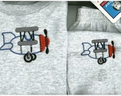 Made to order cute  embroidered 24 mo. little boy outfit.  Embroidered airplane, train or car on sweatshirt and sweatpants. Matching outfit.